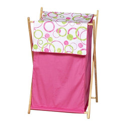 "Sweet Jojo Designs - Pink Circles Hamper - The Pink Circles Hamper by Sweet Jojo Designs will add a designers touch to any childs room. This childrens laundry clothes hamper has a wooden frame, mesh liner, and a fabric cover.The removable hamper body is secured to the wooden frame with corner loops and Velcro. The wooden stand folds flat for space-saving storage and the removable mesh liner is great for toting laundry.Dimensions: 15.5"" Length x 16"" Width x 26.5"" Height.If you like the Pink Circles Hamper Hamper, dont forget to check out the other items in the collection."