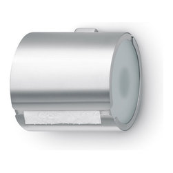 Blomus - Tarro Toilet Paper Holder, Wrap Around - Why is simplicity important in the bathroom? For one thing, it's easy to keep clean. For another thing, it instantly adds a sense of space to the room. And finally, it lets the eye focus on the things you consider beautiful, like pictures, flowers or maybe pretty bath accoutrements. Toilet paper? Not so much.