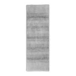 "Garland Rug - Bath Mat: Accent Rug: Essence Platinum Gray 22"" x 60"" Bathroom - Shop for Flooring at The Home Depot. Essence Bath Rugs will complement any bathroom decor. The distinctive stripe pattern gives a modern look. Essence Bath Rugs are made with 100% Nylon for superior softness and quality. Proudly made in the USA."