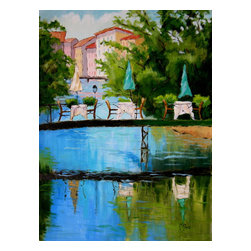 Roweboat Art Inc. - Reflections Of France, Fine Art Reproductions, 30X40 - Original painting reproduction