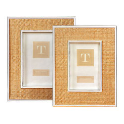 Woven Inlay Steel Frames - Set of 2 - Simply chic and adaptable to so many styles of decor, the Woven Inlay Steel Frames marry natural woven fabric with a gorgeous silver frame, inspiring a classic look that could easily transform into a more transitional or beachy accessory for any room. Insert your treasured memories in this duo of accents and perch them on a shelf or desk for guests to look upon. Simple, elegant and beautiful.