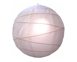 "Oriental-Decor - Innocent White Globe Lantern, 16"" - White is a passive or yin color in feng shui and represents innocence, purity, trust and ultimate wisdom. It is a great color to combine with other colors, as it matches any hue and lends a clean, crisp feeling to any decorative scene. Hang this lovely white lantern in your home or business for a bright decorative effect."