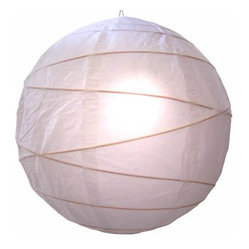 Oriental-Décor - Innocent White Globe Lantern - For a colorful, ethereal glow, all you need is one of these lovely paper spheres. With this luminous lantern in your home, you'll feel calm every time you walk in the door.