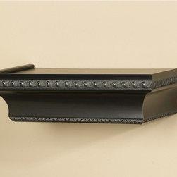 "Byzantine 12"" Ledge Classic Wood Shelf - A simple black shelf — doesn't that speak for itshelf, er, self?"