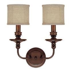 Capital Lighting - Capital Lighting 1232-450 2 Light Sconce - Capital Lighting 2 Light Sconce from the Midtown Collection