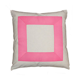 Bright Ribbon Border, Pink - A simple pink ribbon makes this pillow so fabulous!