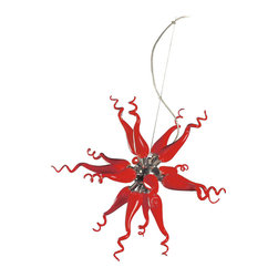 ET2 Contemporary Lighting - ET2 E21005 - Solara 1-Pendant, Red - Category: Single Pendant