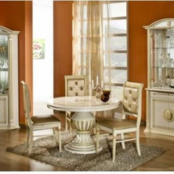Bestsellers - Rossella Beige - Round Extend-able Dining Table Made in Italy by VIG Furniture