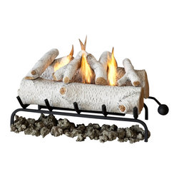 Real Flame - Real Flame 24 Inch Conversion Birch Log Set for Gel Fuel Fireplace - Real Flame - Fireplace Inserts - 2609B - Convert your existing gas or wood-burning fireplace into a Real Flame gel-fueled fireplace and never worry about hauling wood messy ashes or soot again! The six-piece realistic log set holds up to three cans of Real Flame gel fuel. Lift assembly allows for easy access to place and remove cans. Includes wrought iron grate and lava rocks. This log set does not need venting there is no need to open the flue and it can be used in dormant fireplaces.