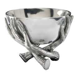 "Arthur Court - Antler 5.5"" Bowl - Get bowled over! A nest of antlers cradles a cast aluminum vessel, perfect for snacks, flowers or displaying your collection of small, cherished objects."
