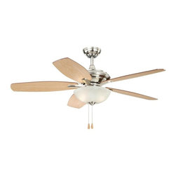 Vaxcel Lighting - Vaxcel Lighting Valencia Transitional Ceiling Fan X-NS89925NF - From the Valencia Collection, this Vaxcel Lighting transitional ceiling fan incorporates updated curvature with clean finishes. The fan blades, pictured in maple, are reversible with a darker walnut side. Alabaster glass and Satin Nickel tones add a delightful finishing touch.