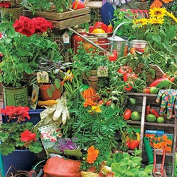 Garden Delights Puzzle - 1000 Piece Jigsaw PuzzleA beautiful mixture of blooms, fruits and supplies that would make any gardener proud! � Rachel Perry, OnlyByDesign
