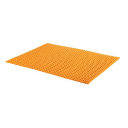 Schluter - Thermostats & Controls: Schluter Warming Mats Ditra-Heat 3 ft. 3 in. x 2 ft. 7 - Shop for Flooring at The Home Depot. The DH5MA is an uncoupling and waterproofing membrane designed to secure Ditra-Heat heating cable in place. Ditra-Heat provides uncoupling to neutralize shear stresses between the substrate and the tile covering to prevent cracked tile and grout. The cut-back stud structure of the Ditra-Heat membrane holds the heating cable in place without the use of clips or fasteners. It also eliminates the need for a self-leveling compound which minimizes the assembly thickness and allows for quicker installation.