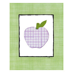 Oh How Cute Kids by Serena Bowman - Patchwork Apple, Ready To Hang Canvas Kid's Wall Decor, 16 X 20 - Every kid is unique and special in their own way so why shouldn't their wall decor be so as well! With our extensive selection of canvas wall art for kids, from princesses to spaceships and cowboys to travel girls, we'll help you find that perfect piece for your special one.  Or fill the entire room with our imaginative art, every canvas is part of a coordinating series, an easy way to provide a complete and unified look for any room.