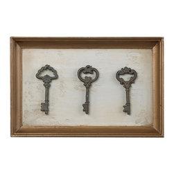 Sterling - Sterling 128-1021 Framed Antique Reproduction Keys - Sterling 128-1021 Framed Antique Reproduction Keys