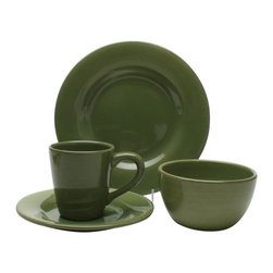 "Tag - Tag Sonoma Earthenware Dinnerware Collection - Set of 16 - 556063 - Shop for Sets from Hayneedle.com! We just can't stop dishing on the Tag Sonoma Earthenware Dinnerware Collection - Set of 16. Combining retro cool with contemporary elegance this set of sixteen dishes includes four place settings each with a cup saucer bowl and plate. The durable earthenware construction means long-lasting dinnerware that's microwave- and dishwasher-safe. Best of all you can choose amongst a wide variety of eclectic colors. With style this unique and construction this reliable you'll really have something to dish on for the next dinner conversationSet Includes:4 cups4 saucers4 bowls4 platesAbout TagFounded by NYU graduate and current owner Norman Glassberg in 1975 Tag is a leader in textiles gifts and furnishings and manufactures their products in nine different countries. With a huge variety of products available to enhance the beauty and comfort of your home Tag focuses their attention on the idea of a ""central look"" with all of their pieces - you can tell a Tag furnishing by its distinctive clean-lined style that's unlike anything else. Today Tag's main goal (aside from maintaining their unique aesthetic) is to bring you high quality affordable products you'll be proud to use and display."