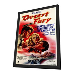 Desert Fury 11 x 17 Movie Poster - Style A - in Deluxe Wood Frame - Desert Fury 11 x 17 Movie Poster - Style A - in Deluxe Wood Frame.  Amazing movie poster, comes ready to hang, 11 x 17 inches poster size, and 13 x 19 inches in total size framed. Cast: Kristine Miller