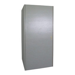 Vinotemp - Vinotemp 440F One Door Formica 280 Bottle Wine Cooling Cabinet Multicolor - 440F - Shop for Pantries from Hayneedle.com! The modern look of the Vinotemp 440F One Door Formica Cooling Cabinet is assured to keep even the oldest wines in the ideal aging conditions. The white Formica is a classic look ideal for basement or cellar and is complemented with a brass-finish handle. This medium-size cabinet holds approximately 280 bottles on standard 3.75-inch redwood and aluminum racking. Bottle capacities are only guidelines and will vary dependent upon the size and style of the bottle stored and variations in design unique to each wine cellar.The top-of-the-line construction includes a dependable UL approved WineMate 1500 BTU self-contained cooling system that maintains the ideal environment for both short-term storage and long-term aging. This means wines stay at a comfortable 50 degrees with a humidity level of 50-70%. It is the ideal environment for storage much like the caves used to store wine in France. You are in control with the easy-to-use digital temperature guides; adjust to your preferences for the perfect glass every time. Each cabinet comes with an insulation factor of R12 that is just right for most climates and homes.It is important to note that most of the units are designed with back exhaust where you need a minimum of 4-6 inches on back 12 inches on sides and 6-12 inches above for proper ventilation. This cabinet measures 29W x 38D x 82H inches. Each cabinet is built to order with precision construction and attention to detail. Shipping range is 4-6 weeks.Note: Single Zone wine coolers are intended to store only one type of wine at a time as they have only one temperature zone that can be set to cool either red white or sparkling wine.About VinotempBased in Southern California since 1985 Vinotemp has proudly crafted custom built wine coolers for some of the finest restaurants and homes in the world. They've sold over 250 000 beautiful wine cel