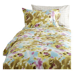 Dormify - Arden Floral Duvet Set, Full/Queen - Keep Calm and Bloom on. A combination of soft pastels and bright colors blend together to create a tranquil setting in your room. Made with cotton so smooth, it almost feels like silk, this floral duvet set is as coveted as your favorite floral-printed jeans. The Arden Floral Duvet features a hidden zipper and comes with sham(s). And while you may keep calm after sleeping with this floral duvet, it definitely is something to get excited about. Designed in NYC made in China.