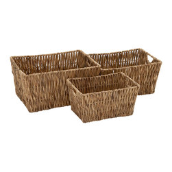 Cool and Beautiful Seagrass Basket, Set of 3 - Description: