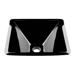 PolarisSinks - Polaris P306 Black Colored Glass Vessel Sink - Our glass sinks come in a large variety of colors and styles to fit any decor. Our line of glass sinks will add elegant beauty to your bathroom. the glass sinks are manufactured using fully tempered glass. Tempered glass is stronger and can withstand higher temperatures than normal glass. the quality of the glass makes maintenance very easy. the glass is non porous and will not absorb odor or stains making it a very sanitary option in bathroom sinks. Our glass sinks are covered by a Limited lifetime warranty. Each sink comes with a cardboard cutout template and mounting hardware.