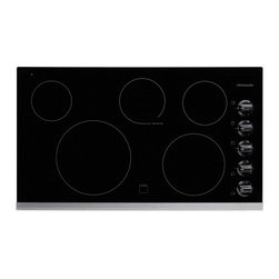 "Frigidaire - FFEC3625LS 36"" Smoothtop Electric Cooktop With 5 Burners  Hot Surface Indicator - Frigidaire 36 Electric Cooktop has an extra-large element giving you space for larger pots and pans Features Ready-Select Controls Easily select options with the touch of a button Extra-Large Element Our extra-large 12 element gives you space for lar..."