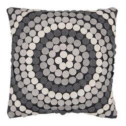 """Surya - Surya 22 x 22 Decorative Pillow, Light and Dark Grays (CW056-2222P) - Surya CW056-2222P 22"""" x 22"""" Decorative Pillow, Light and Dark Grays"""