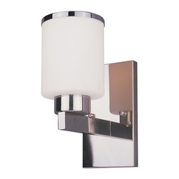 Z-Lite - Z-Lite 313-1S Cosmopolitan 1 Light Wall Sconce - For a cutting edge modern fixture, look no further than this wall sconce. A milk white shade is complimented with a chrome band, and accented with a modern styled wall mount.Specifications: