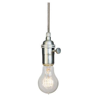 Hammers & Heels - Stainless Steel Cord Bare Bulb Pendant Light- Brushed Nickel - SIMPLE AND MINIMALIST BARE BULB PENDANTS