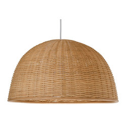 Kouboo - Wicker Dome Pendant Light, Natural - Add a little natural light to your interiors with this pendant. Made entirely of wicker, it diffuses the light for a warm, ambient glow.