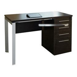 "Jesper Office Furniture - 500 Series 47.5"" Clerk Desk in Espresso Laminate - Features:"