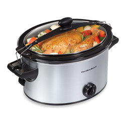 Hamilton Beach Stay or Go Slow Cooker, 5 Quart - I love my slow cooker. It's a little bigger than this one, but it's perfect for my family of four (especially if I want leftovers). This 5-quart slow cooker is perfect for a single person or a couple, or use it as a second slow cooker for large meals to feed a crowd. Or just use it when you might not need to make a ton of food in a bigger cooker.