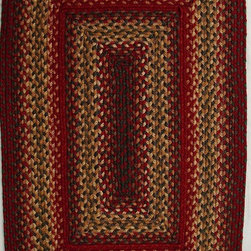 Homespice Decor - Braided Cider Barn 4'x6' Rectangle Red-Gold Area Rug - The Cider Barn area rug Collection offers an affordable assortment of Braided stylings. Cider Barn features a blend of natural Red-Gold color. Machine Made of 99% Jute  1% Polyester the Cider Barn Collection is an intriguing compliment to any decor.