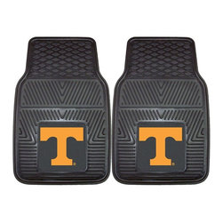 Fanmats - Fanmats Tennessee 2-piece Vinyl Car Mats - A universal fit makes this two-piece mat set ideal for cars, trucks, SUVs and RVs. The officially licensed Tennessee design in true team colors is permanently molded of vinyl for longevity.