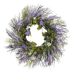 Lavender Wildflower Wreath - Don't forget your front door this spring! Sure, it makes sense to add a wreath around the holidays, but this gorgeous floral one will take your outdoor decor through the summer.