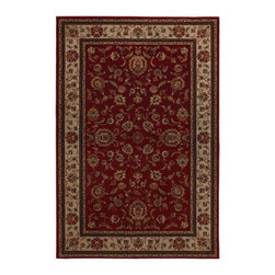 "American Rug Craftsmen - Transitional Georgetown 5'3""x7'10"" Rectangle Red-Cream Area Rug - The Georgetown area rug Collection offers an affordable assortment of Transitional stylings. Georgetown features a blend of natural Red-Cream color. Machine Made of Heat Set Polypropylene the Georgetown Collection is an intriguing compliment to any decor."