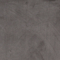 Gray Microsuede Suede Upholstery Fabric By The Yard - Our microsuede upholstery fabric will look great on any piece of furniture. This material is easy to clean and is very durable.