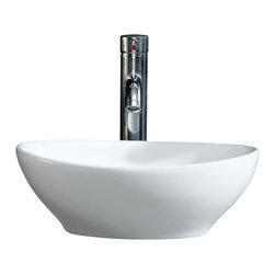 Fine Fixtures - Fine Fixtures White Vitreous China Round Modern Vessel  Sink - Bring added elegance to your bathroom with this Fine Fixtures modern vessel sink.  A welcoming addition to any bathroom or powder room, Constructed of durable and stain resistant vitreous china, this oval sink features sleek, refined sides and its rounded appearance provides it with a modern and fresh look. Its simple yet fashionable design is sure to leave a lofty impression on your bathroom.