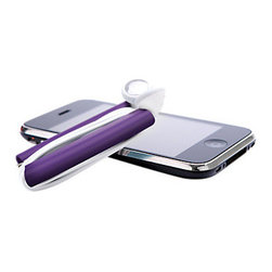 Quirky - Wrapster Headphone Cord Organizer, Purple - The hassle and irritation that accompanies headphones no longer needs to cause you headaches with the Wrapster Headphone Cord Organizer by Quirky. It is compact, durable and sturdy. Perfect for any smartphone or mp3 player.