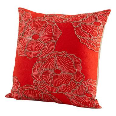 Cyan Design - Petunia Pillow - Petunia pillow - red