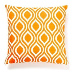 5 Surry Lane - Orange Modern Bargello Geometric Pillow - You know what a spot of color does for a room. This is guaranteed to bring alive your chair or sofa. The vibrant colors reverse to solid when your mood changes. Aren't you rockin' it!