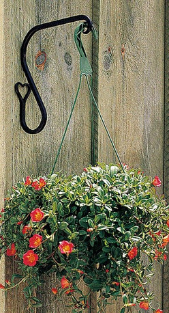 """Renovators Supply - Plant Hangers Wrought Iron Heart Plant Hanger 7"""" H projects 9"""" - For plants or bird feeders.  Forged black iron.  These heart plant hangers are weatherproof and measure 7"""" high and have a 9"""" projection."""