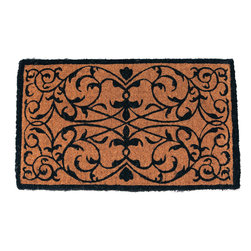Entryways - Iron Grate Rectangle Extra Thick Hand Woven Coconut Fiber Doormat - Designed by an artist, this distinctive mat is a work of art that will add a welcoming touch to any home. It is from Entryways' handmade collection and meets the industry's highest standards. This decorative mat is handsomely hand woven and hand stenciled.