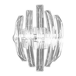 Eglo - Eglo 89206A 2 Light Wall Sconce Drifter Collection - (Bulbs Included) - Eglo 89206A Drifter 2 Light Wall SconceBeauty in design is the mantra at Eglo, and this wall sconce from the Drifter Collection is an stunning example of that philosophy. Unique Specialty Shaped Clear Glass surrounds the bulbs, giving off faceted light in all directions while the Chrome Finish hardware complements the stunning crystalline shapes. This piece is sure to impress all who gaze upon it.Eglo 89206A Features: