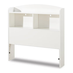 South Shore - South Shore Logik Pure White Twin Bookcase Headboard - South Shore - Headboards - 3360098