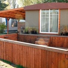 Modern Exterior by Christine Suzuki, ASID, LEED AP