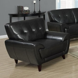 Anton Leather Chair - Black