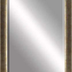 Paragon Decor - Beveled Mirror, Tarnished Gold,30x40 - Mirror, Mirror, on the wall, who's the most beautiful mirror of them all? Reflect your impeccable taste with this traditional-style mirror, which features a gorgeous tarnished gold frame and high-quality interior beveled mirror. This piece measures 36 inches wide, 2 inches deep, and 46 inches high.