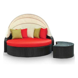 Modway - Perectiona Outdoor Rattan Day Bed 2 Piece Set - Eei-731-Set - For entertaining or everyday use