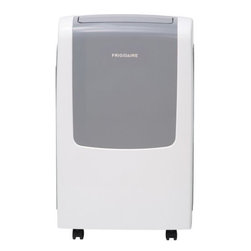 Frigidaire A/C - 9,000 BTU Heat/Cool Portable A/C - Frigidaire's FRA09EPT1 9,000 BTU 115V Portable Air Conditioner with 4,100 BTU Supplemental Heat Capability is perfect for rooms up to 425 square feet. In addition to cooling, this versatile unit also offers supplemental heat capability, providing you with an additional heat source to your main heat source when outdoor temperatures are above 45 degrees Fahrenheit. It quickly cools the room on hot days and quiet operation keeps you comfortable without keeping you awake. Features include electronic controls, full function remote control, swing air direction control and multiple speeds. An antibacterial mesh filter reduces bacteria, room odors, and other airborne particles for a comfortable environment. The SpaceWise portable design includes integrated side handles and caster wheels making it easy to move your unit from room to room.Portable air conditioner with supplemental heat capability uses standard 115V electrical outlet|Supplemental heat capability provides an additional heat source to your main heat source when outdoor temperatures are above 45�F|9,000 BTU cooling capacity / 4,100 BTU supplemental heating capacity|For rooms up to 425 sq. ft.|Dehumidification up to 1.2 pints per hour|Ready-select electronic controls allow you to easily select options with the touch of a button|Full-function remote control allows you to precisely control the temperature and fan speed from across the room|Low power start-up conserves energy and saves you money|Quiet operation keeps you comfortable without keeping you awake|Effortless restart automatically resumes operating at its previous settings when power is restored|  frigidaire| fra09ept1| fra09| 9|000| 9000| btu| 115v| 115-volt| 115-volts| 115| v| volt| volts| portable| air| conditioner| ac| a/c| heater| air condi  Package Contents: portable air conditioner w/ heat capability|remote control|2 AAA batteries|exhaust hose|window sliding kit|manual|warranty  This item cannot be shipped to APO/FPO addresses